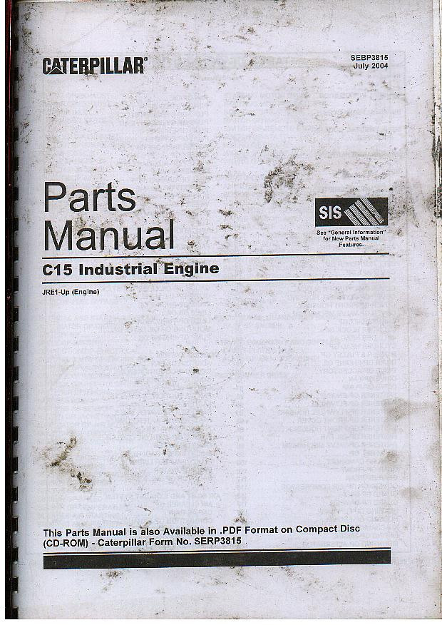 caterpillar c15 industrial engine parts manual. Black Bedroom Furniture Sets. Home Design Ideas