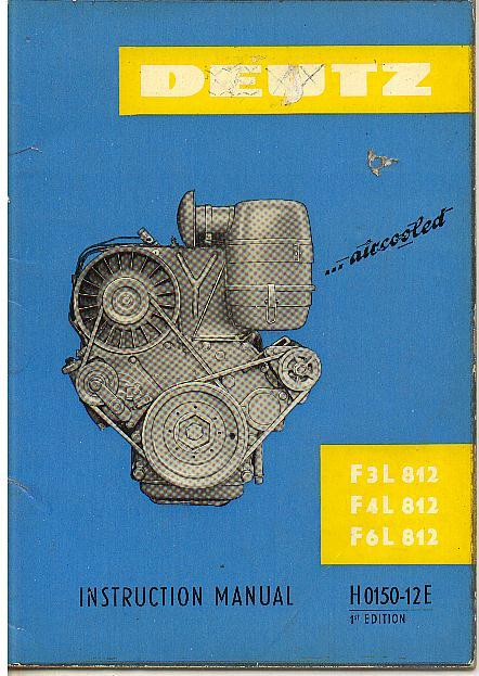 Deutz Engine F3l 812 F4l 812 F6l 812 Operators Manual