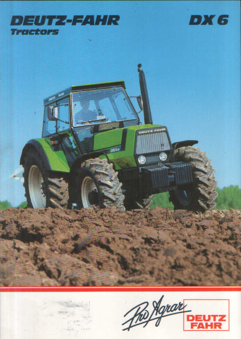 FOR AN ENLARGEMENT CLICK ON THE MAIN IMAGE: www.agrimanuals.com/deutz-fahr-dx-6-tractor-brochure-5763-p.asp