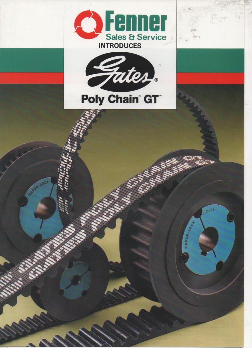 Fenner Introduces Gates Poly Chain Gt Brochure