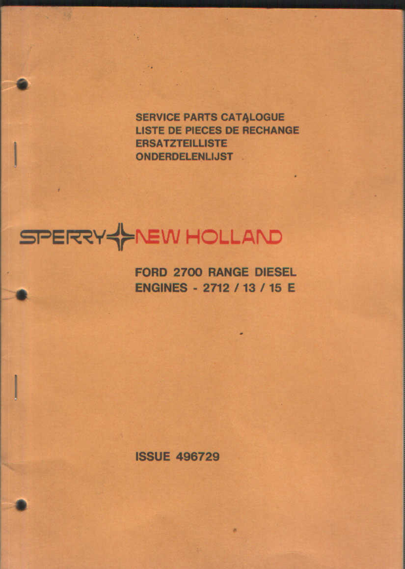 Ford Diesel Engine 2700 Range Parts Manual 2712 2713 2715 E