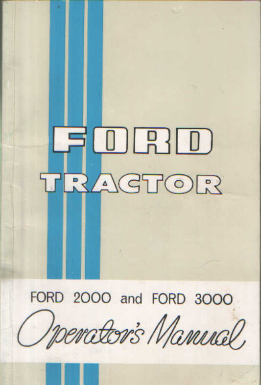 ford 3000 tractor manual pdf