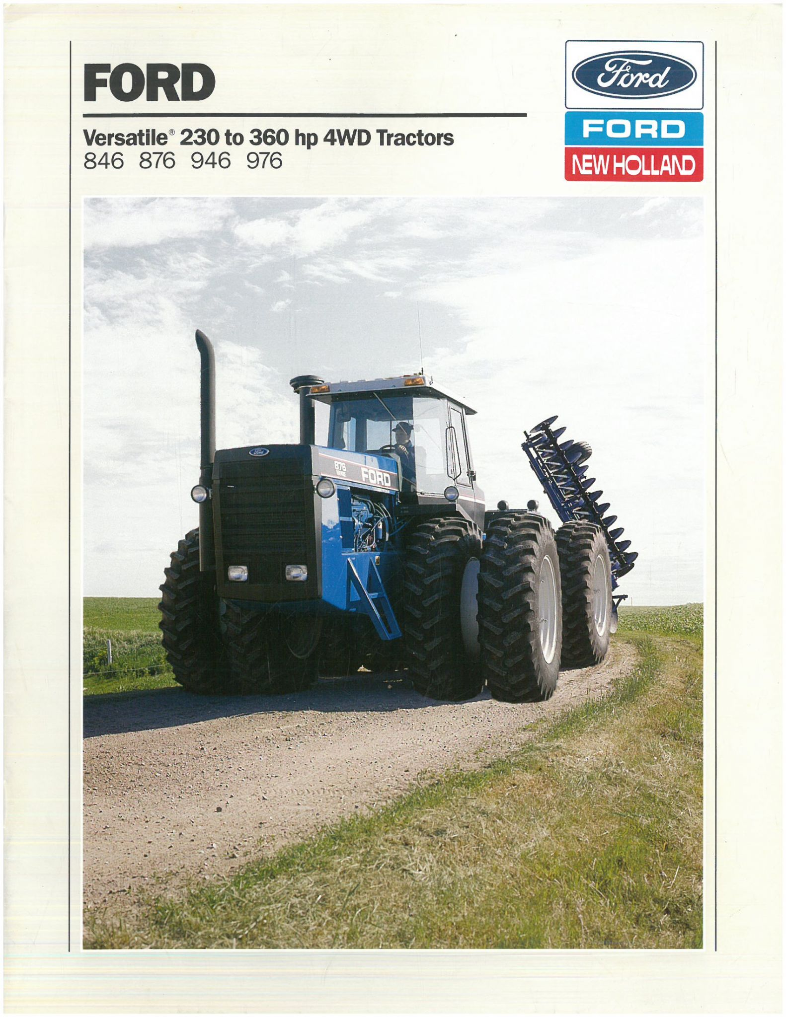 Ford Owners Manual >> Ford Versatile Tractor 846 876 946 976 Brochure