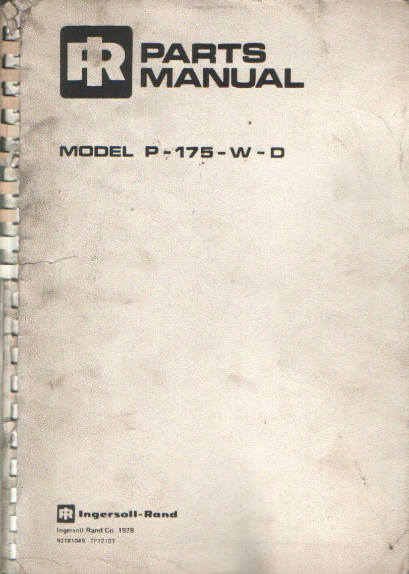 ingersoll rand rt708g parts manual
