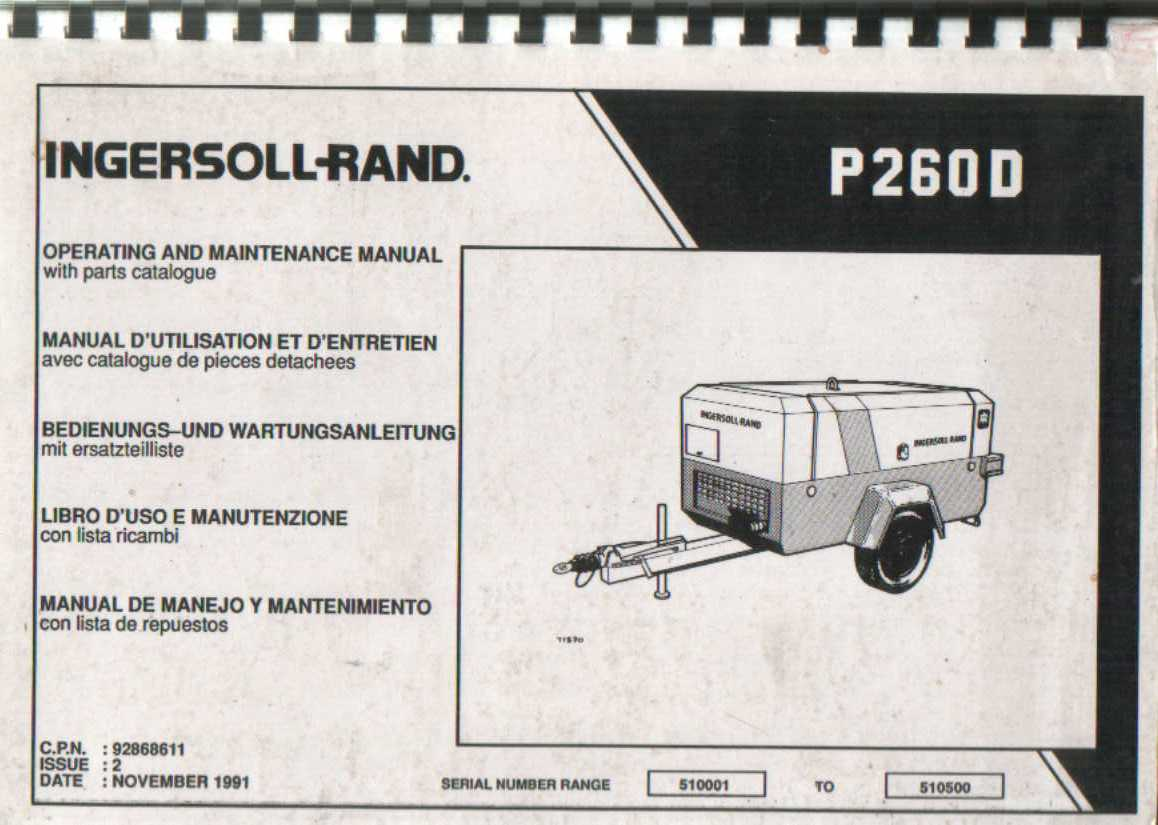 ingersoll rand vr843 parts manual
