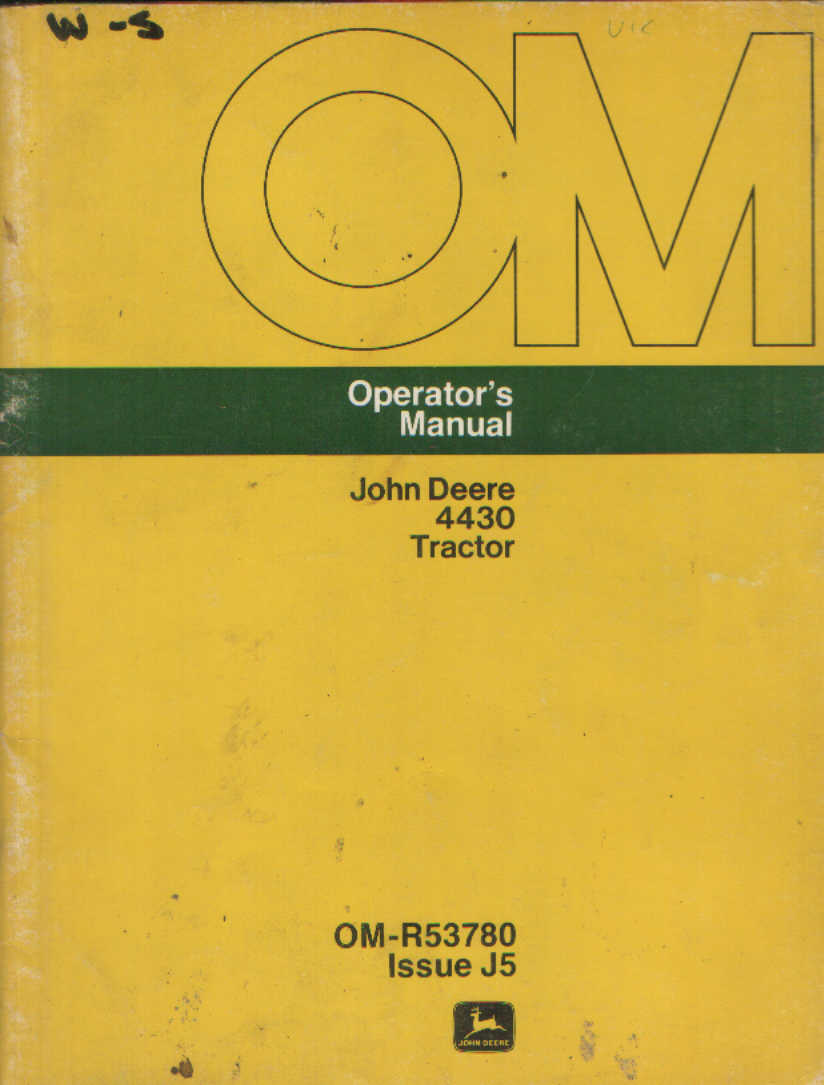 john deere rx75 operators manual
