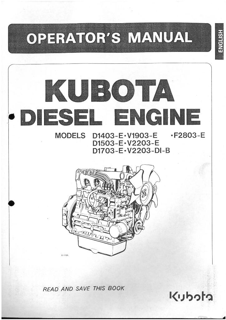 kubota diesel engine d1403 e d1503 e d1703 e v1903 e v2203 e v2203 di b f2803 e operators manual 6423 p kubota engine manual click on image to download kubota models z482 kubota d722 wiring diagram at edmiracle.co
