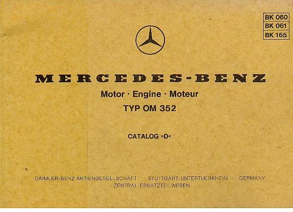 Manual Transmission >> Marcedes Benz Industrial Engine OM352 Parts Manual