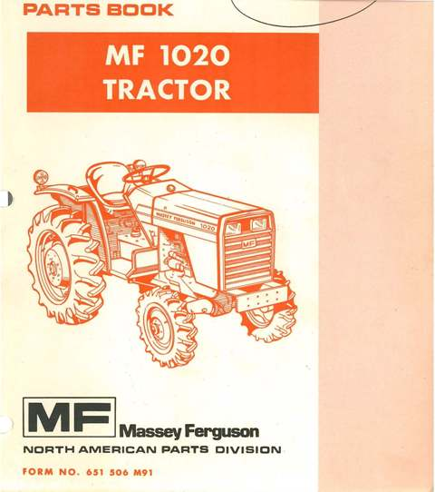 Massey    Ferguson    Tractor MF1020 Parts Manual  MF    1020