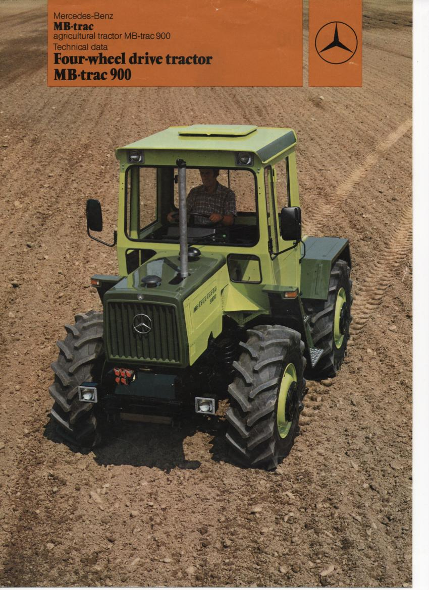 Mercedes benz tractor four wheel drive mb trac 900 brochure for Mercedes benz tractors