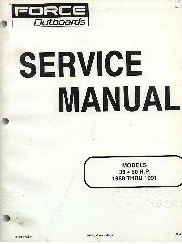 Mercury Marine Force Outboards Models Hp Thru Service Manual P on mercury 40 hp 4 stroke outboard schematic