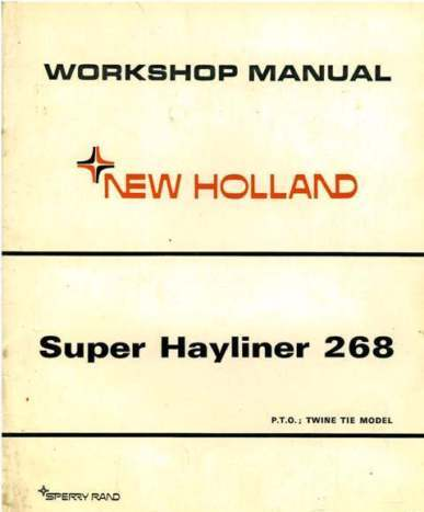 New Holland 268 Baler Adjustments http://www.agrimanuals.com/new-holland-baler-268-super-hayliner-workshop-service-manual-9602-p.asp