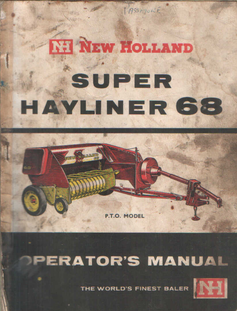 New Holland Hayliner 68 Parts http://www.agrimanuals.com/new-holland-baler-super-hayliner-68-operators-manual-5146-p.asp