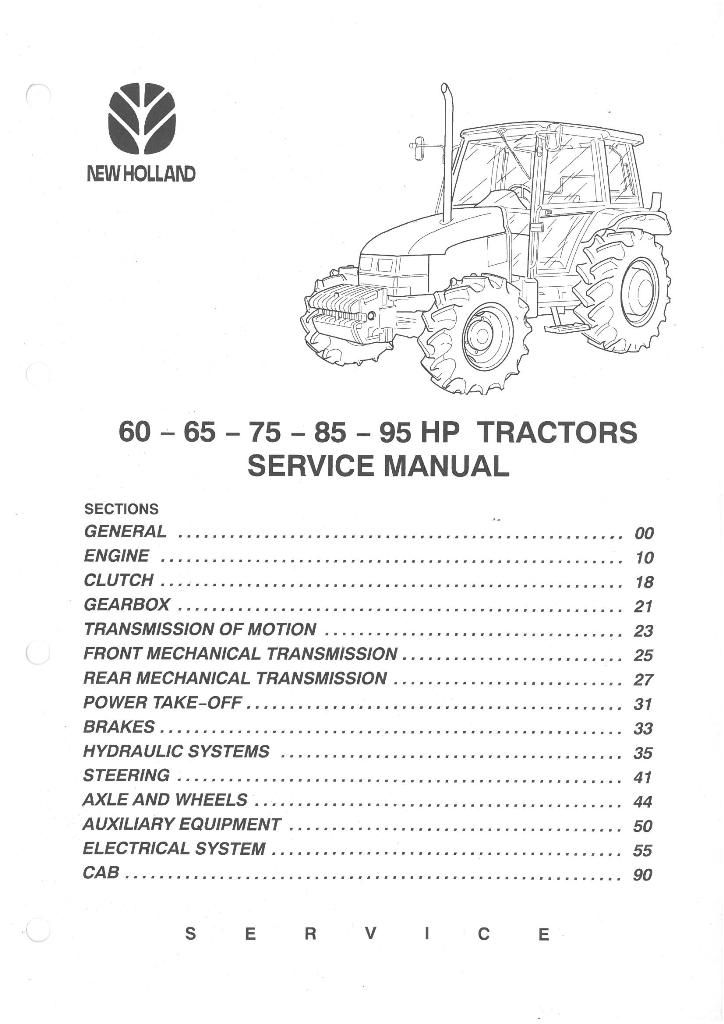 New Holland Tractor Manuals : New holland fiatagri tractor l workshop