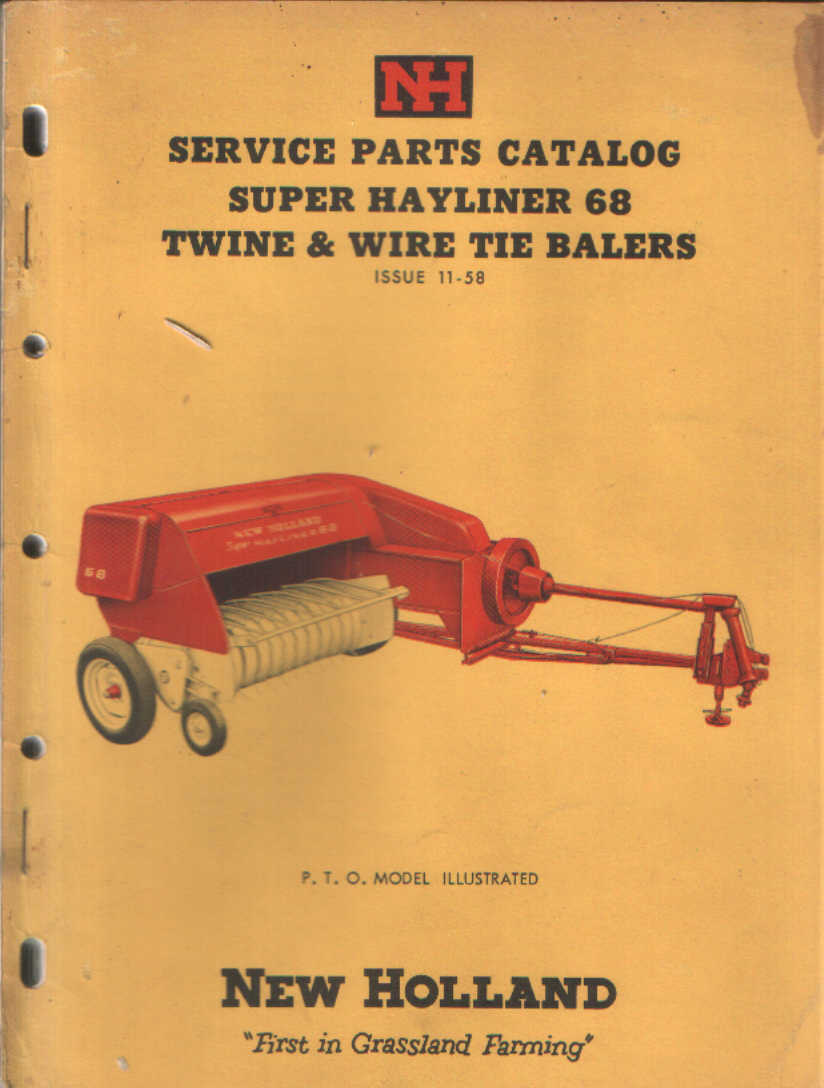 New Holland Hayliner 68 Parts http://www.agrimanuals.com/new-holland-super-hayliner-68-baler-parts-manual-3975-p.asp