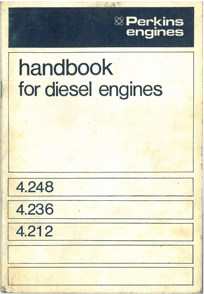 perkins 4 248 4 236 4 212 diesel engine operators manual with illustrated parts