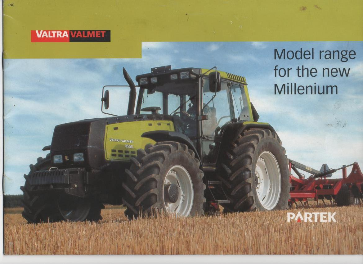 "Valtra Valmet Tractors ""Model range for the new Millenium"" Brochure: www.agrimanuals.com/valtra-valmet-tractors--model-range-for-the-new..."