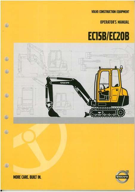 volvo excavator ec15b   ec20b operators manual User Manual PDF User Manual