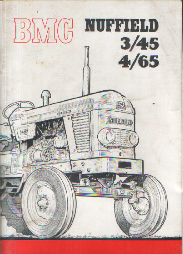 Bmc Nuffield Tractor 3 45  U0026 4 65 Operators Manual