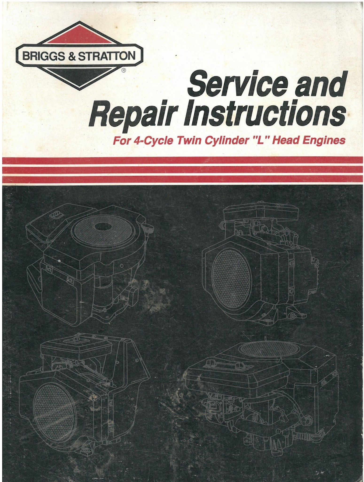 briggs stratton engine 4 cycle twin cylinder l head engine rh agrimanuals  com Briggs and Stratton Engine Numbers Briggs Stratton Engine Diagram