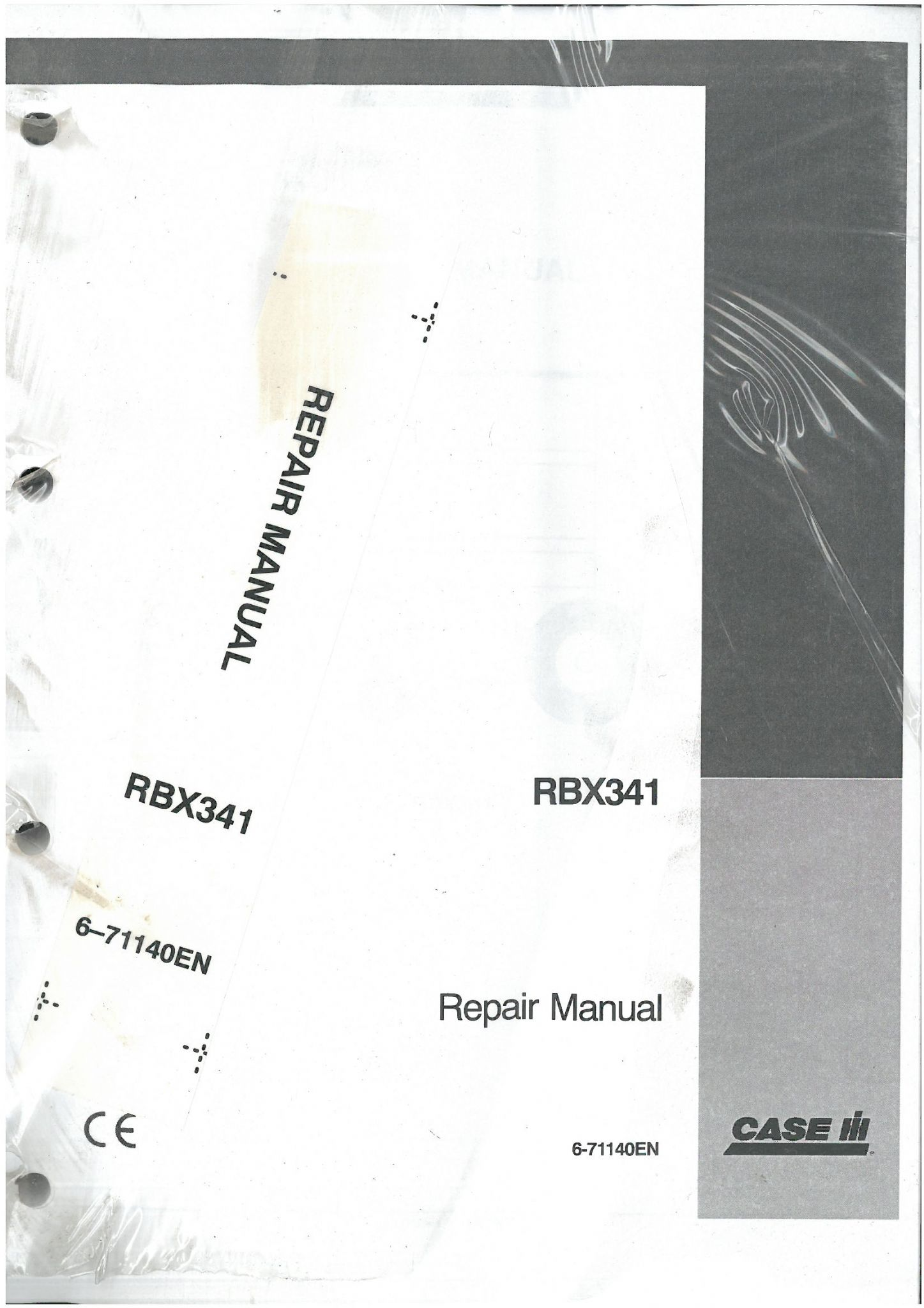 Case IH Round Baler RBX341 Workshop Service Repair Manual - RBX 341 -  ORIGINAL MANUAL