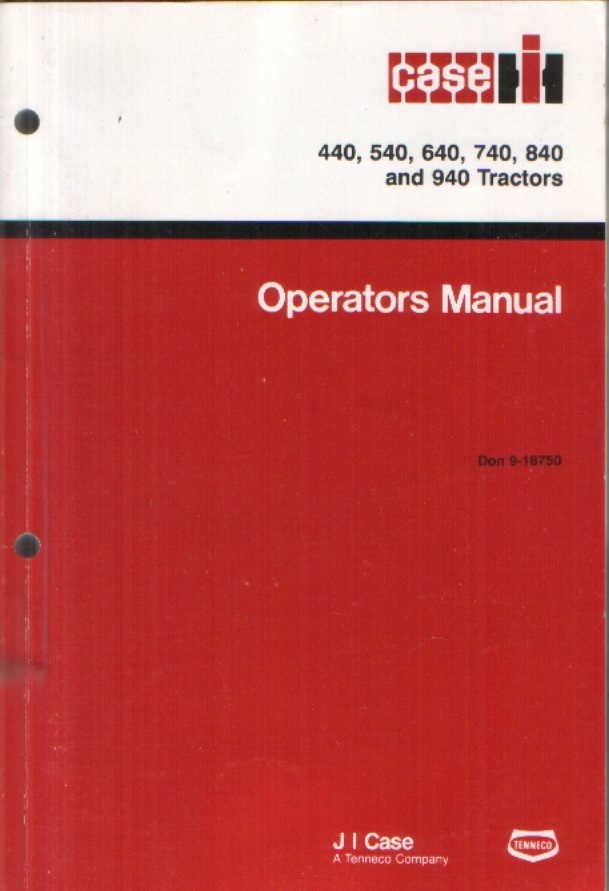 case ih tractor 440 540 640 740 840 940 operators manual rh agrimanuals com Deere and Company Old Case IH