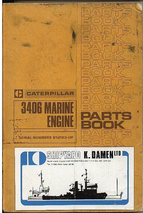 Caterpillar Marine Engine Parts Manual P on Engine Exploded View