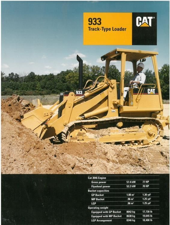 CATERPILLAR 933 TRACK TYPE LOADER BROCHURE - PB1