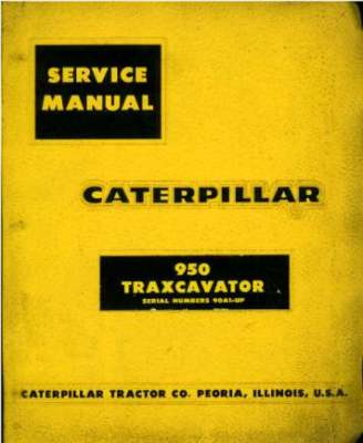 Caterpillar 950 Traxcavator Service Workshop Manual - GTC