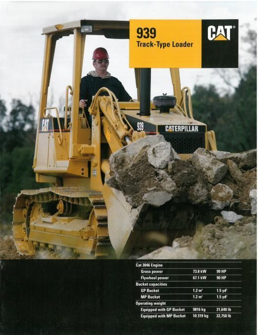 CATERPILLAR CAT 939 TRACK TYPE LOADER BROCHURE- DG1