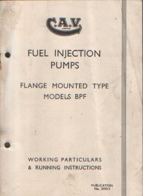 Cav fuel injection pump flange mounted type model bpf operators cav fuel injection pump flange mounted type model bpf operators manual publicscrutiny Image collections
