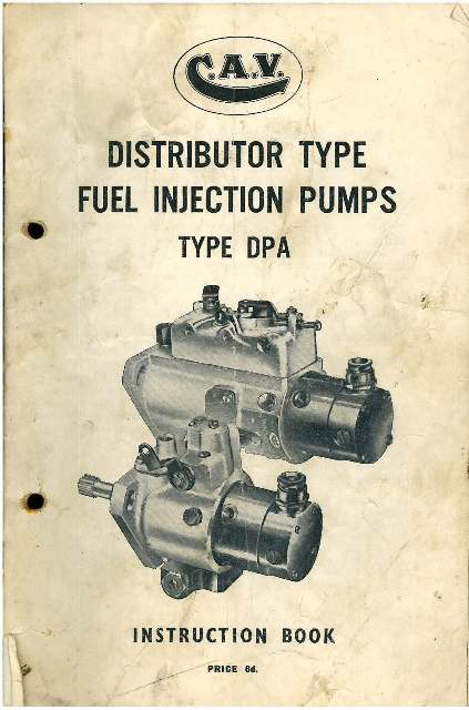 Cav fuel injection pump type dpa instruction manual publicscrutiny Image collections