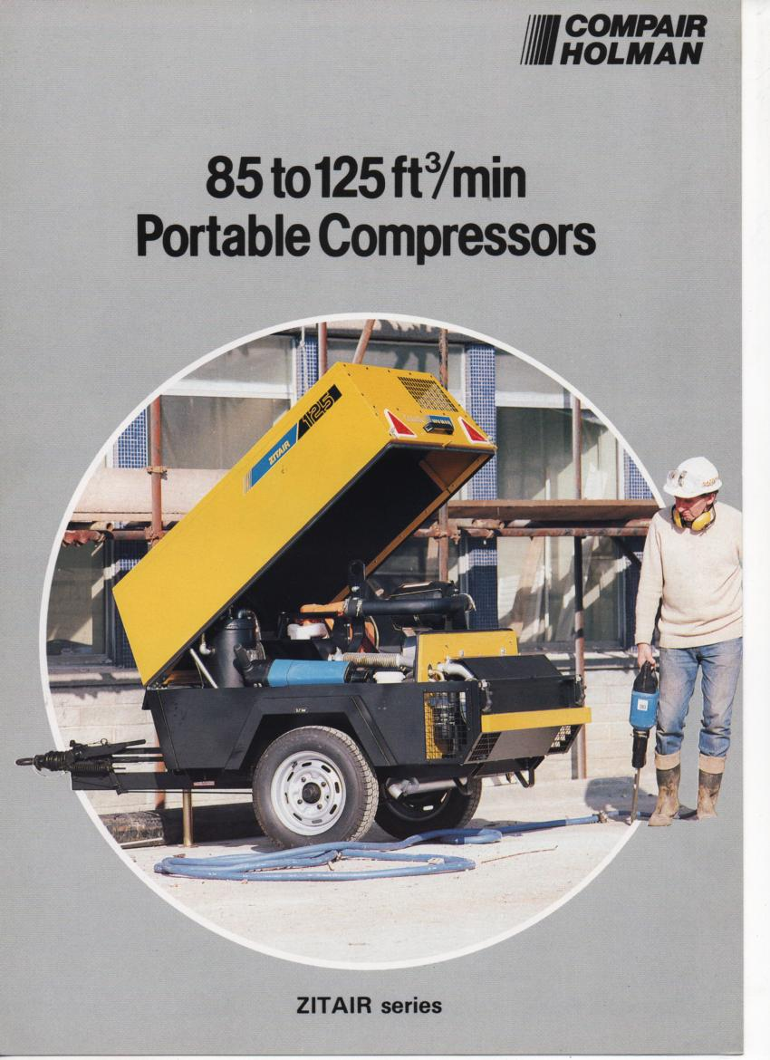 Compair Holman Portable Compressors - Zitair Series