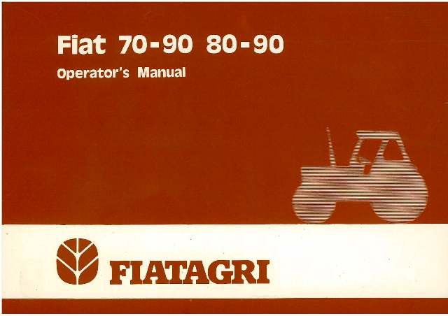 fiat tractor 70 90 80 90 70 90dt 80 90dt operators manual rh agrimanuals com fiat 80-90 workshop manual fiat 80 90 service manual