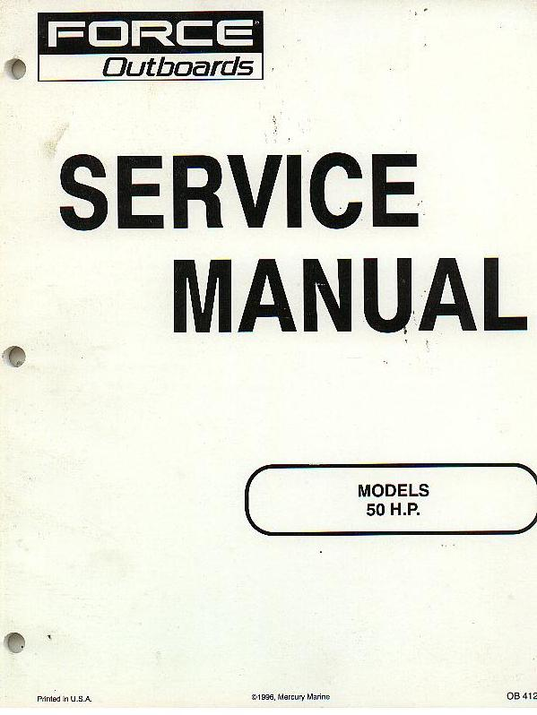 force outboards 50hp outboard motor service manual rh agrimanuals com honda outboard 50 hp service manual selva madeira 50 hp service manual