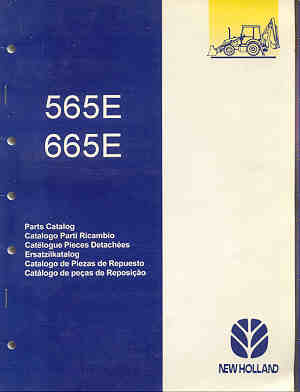 Ford 565E, 665E, Backhoe Loader Parts Manual