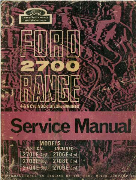 What Is Transmission >> Ford Diesel Engine 2700 Range Workshop Service Manual ...