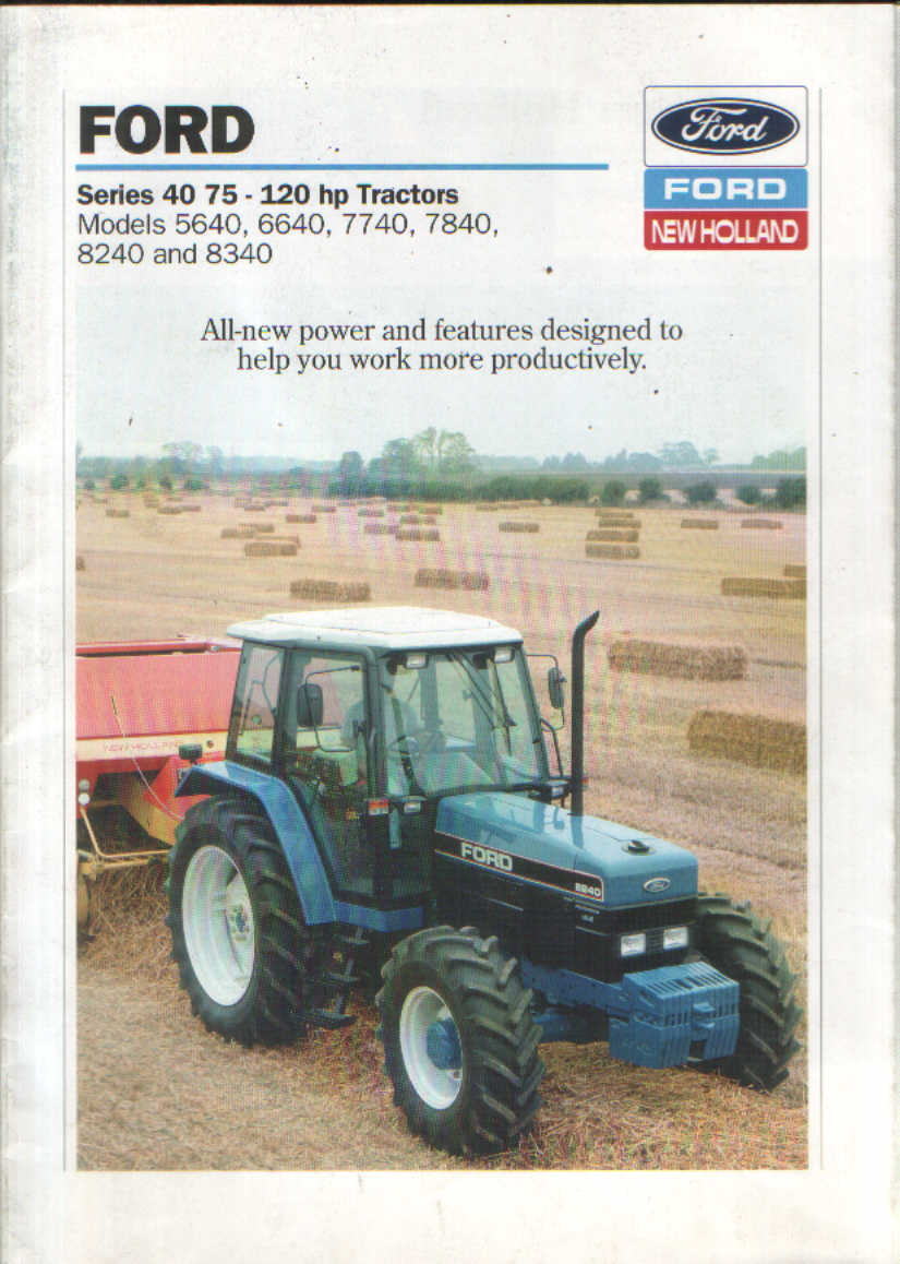 Ford New Holland Tractor Brochure P