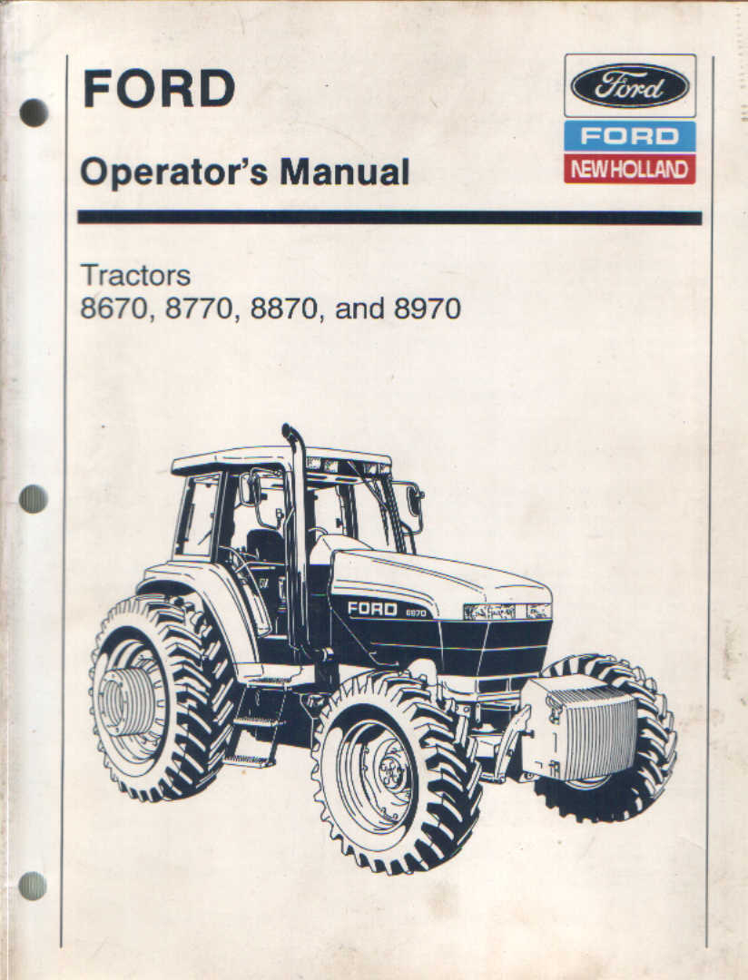 ford new holland tractor 8670 8770 8870 8970 operators manual rh agrimanuals com new holland tractor owners manual new holland tractor manual download