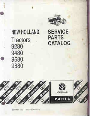 ford new holland versatile 9280 9480 9680 9880 tractor parts manual