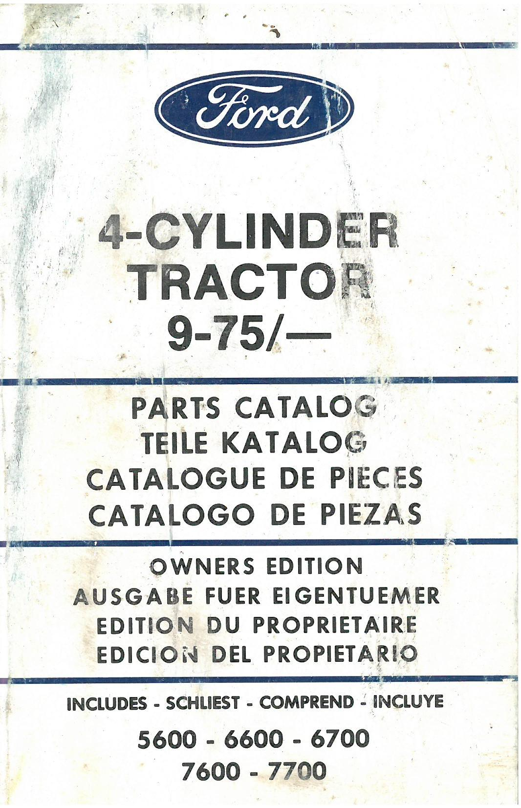 Ford Tractor 4 Cylinder 9-75