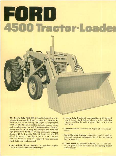 Ford 4500 Tractor Parts Diagram : Ford tractor loader brochure