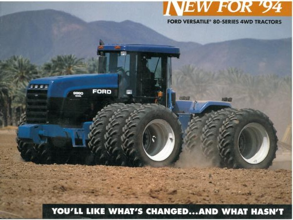 Ford Versatile Tractors New For 94 Brochure