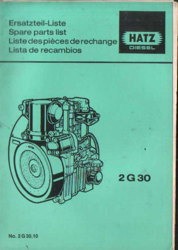 Manual Transmission >> Hatz Engine 2G30 Parts Manual