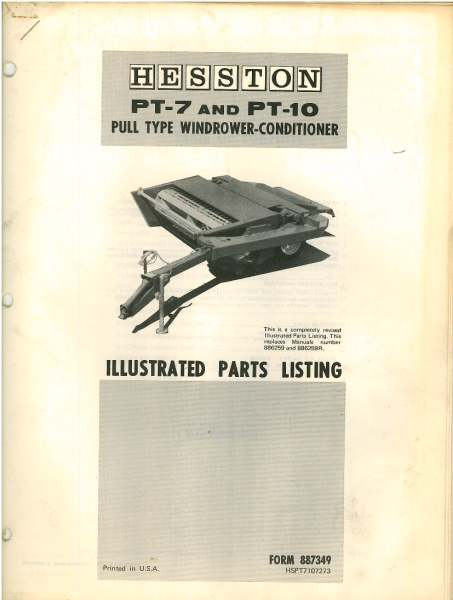Hesston pt 7 parts diagram wiring library hesston pt7 pt10 windrower conditioner parts manual rh agrimanuals com hesston 1014 parts diagram hesston 1014 parts diagram ccuart Images