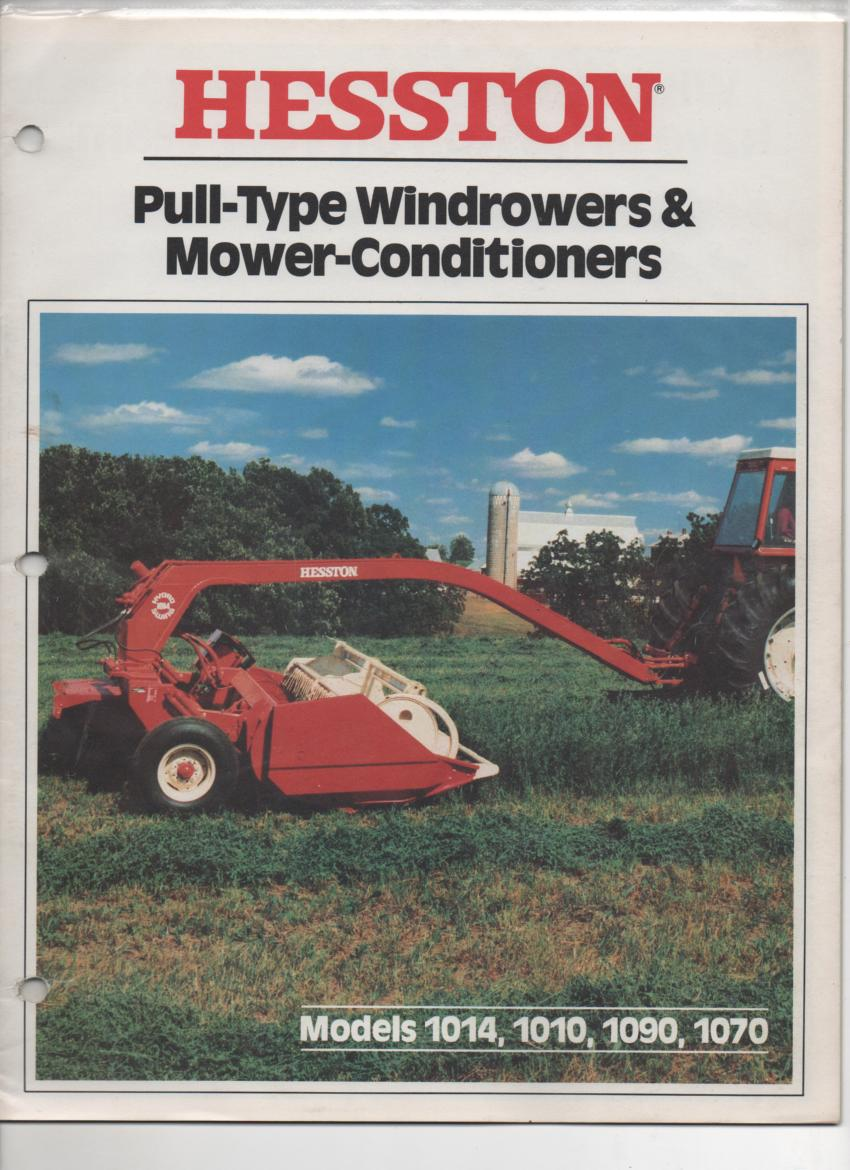Hesston Pull-Type Windrowers & Mower Conditioners - Models 1014, 1010, 1090  & 1070 Brochure