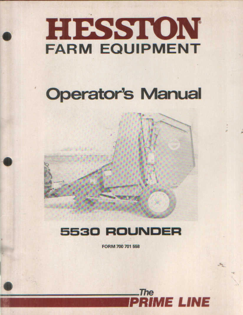 Hesston hay baler Repair manual