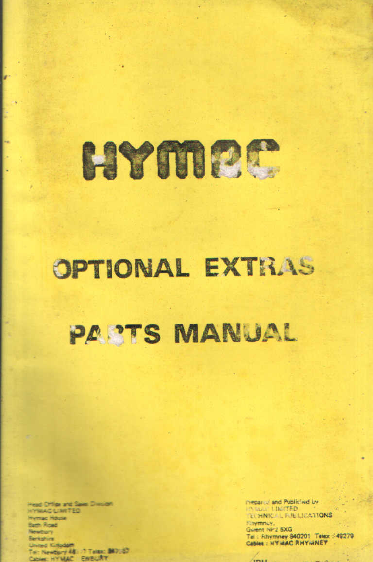 hymac 370c workshop manual 170 pages Array - hymac optional extras for  models 370c 595 6 580c parts manual rh agrimanuals ...