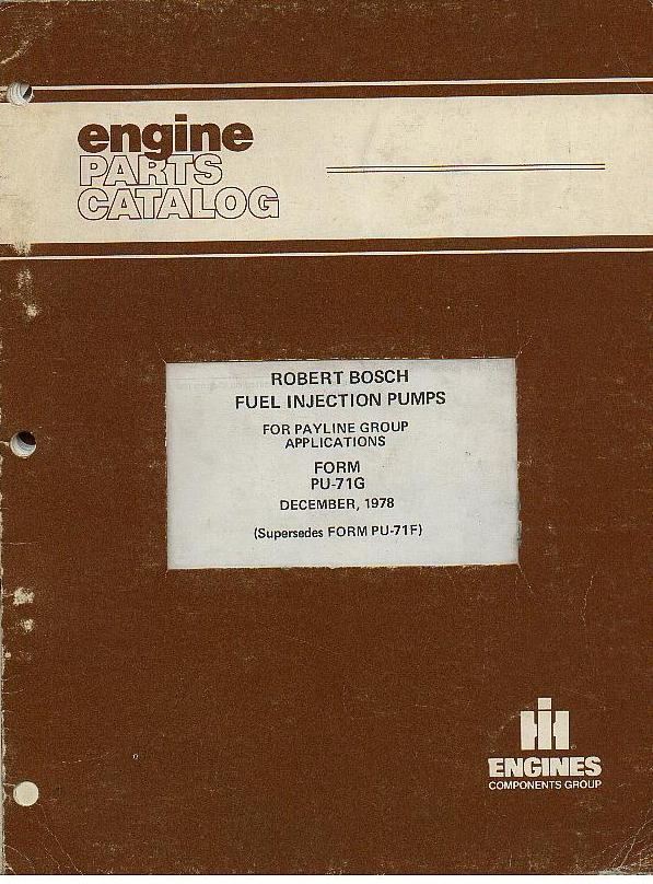 International Robert Bosch Fuel Injection Pumps Parts