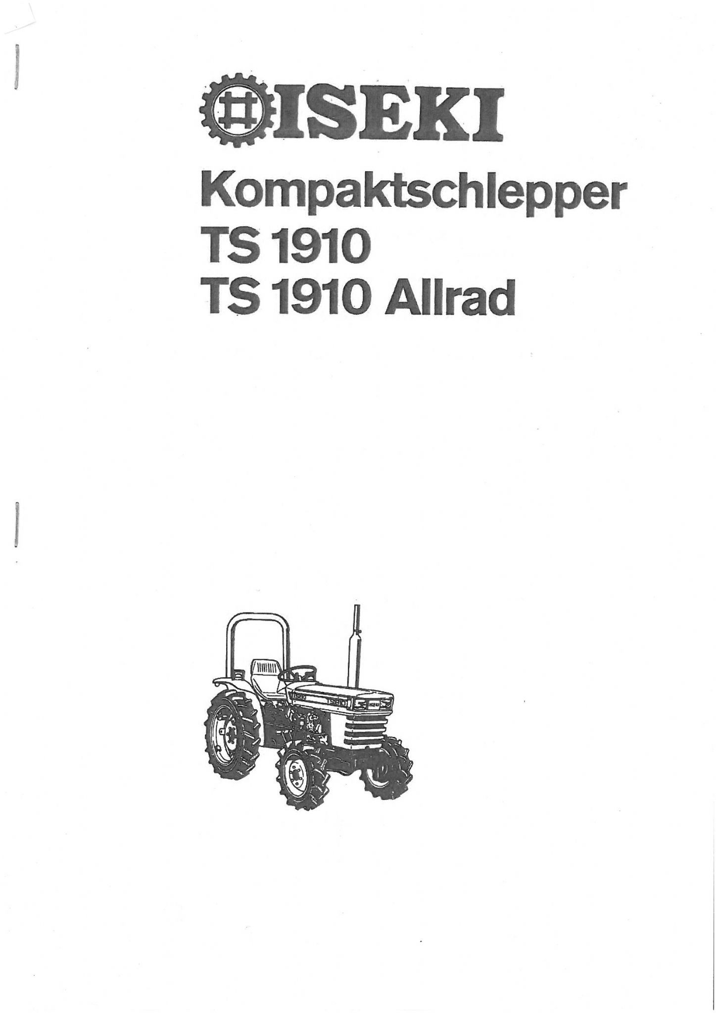 bolens g14 wiring diagram iseki tractor ts1910 parts manual - ts 1910